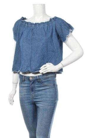 Γυναικεία μπλούζα Yfl Reserved, Μέγεθος M, Χρώμα Μπλέ, Βαμβάκι, Τιμή 3,86€