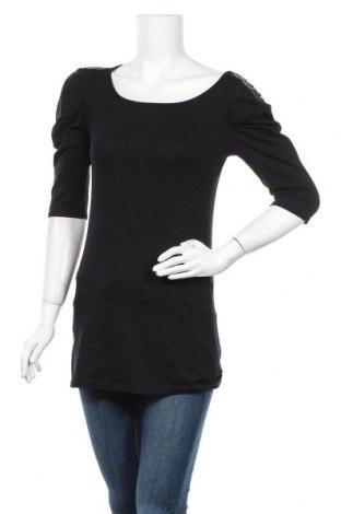 Дамска блуза Zebra, Размер L, Цвят Черен, 96% вискоза, 4% еластан, Цена 12,13лв.