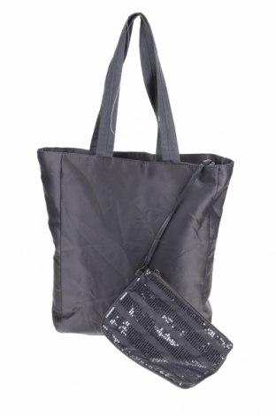 Дамска чанта, Цвят Сив, Текстил, Цена 40,32лв.