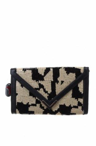 Дамска чанта, Цвят Черен, Текстил, еко кожа, метал, Цена 23,52лв.