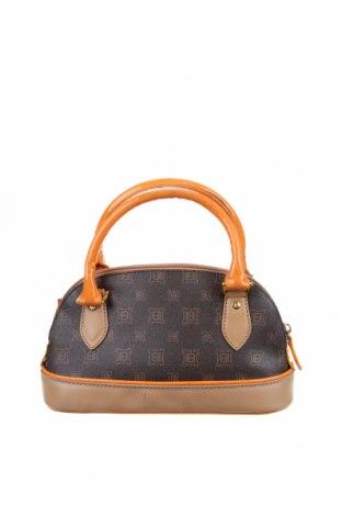 Дамска чанта Laura Biagiotti, Цвят Кафяв, Еко кожа, Цена 70,51лв.