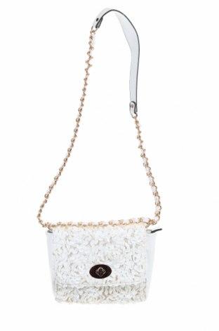 Дамска чанта Sacoess, Цвят Бял, Еко кожа, текстил, Цена 29,40лв.