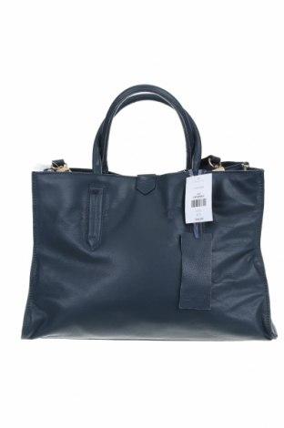Γυναικεία τσάντα Topshop, Χρώμα Μπλέ, Γνήσιο δέρμα, Τιμή 48,06€