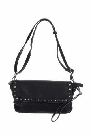 Дамска чанта United Colors Of Benetton, Цвят Черен, Еко кожа, Цена 28,56лв.