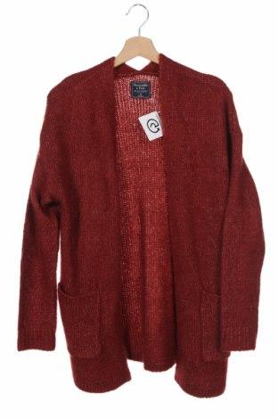 Дамска жилетка Abercrombie & Fitch, Размер XS, Цвят Червен, Цена 49,50лв.