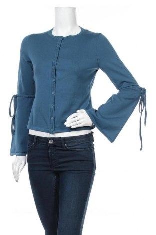 Γυναικεία ζακέτα Hugo Boss, Μέγεθος XS, Χρώμα Μπλέ, 74% βαμβάκι, 15% πολυαμίδη, 8% μετάξι, 3% ελαστάνη, Τιμή 50,86€