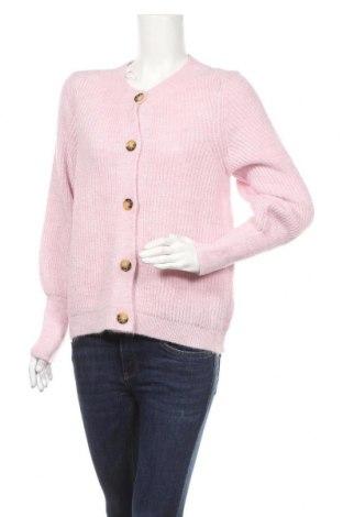 Дамска жилетка ONLY, Размер XS, Цвят Розов, 81% акрил, 19% полиестер, Цена 36,57лв.