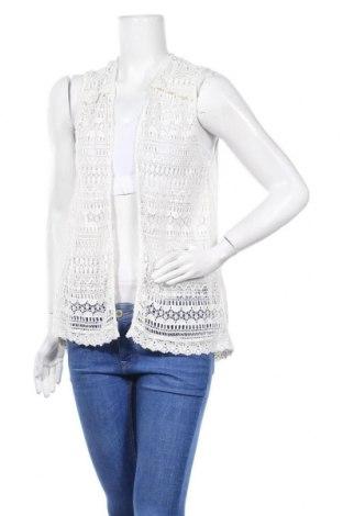 Дамска жилетка Zara Trafaluc, Размер M, Цвят Бял, Вискоза, Цена 9,69лв.