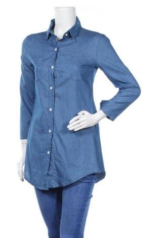 Дамска риза, Размер M, Цвят Син, 65% полиестер, 35% памук, Цена 12,13лв.
