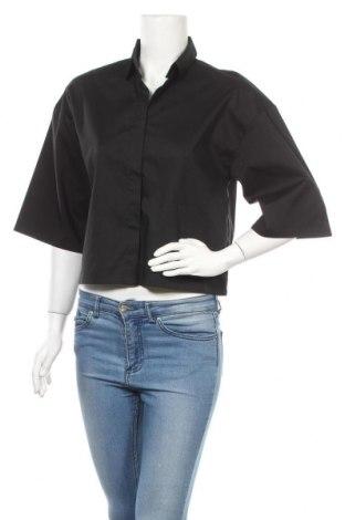 Дамска риза ADPT., Размер XXS, Цвят Черен, 67% памук, 29% полиамид, 4% еластан, Цена 4,91лв.