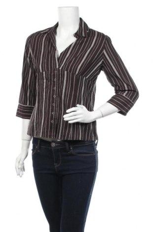 Дамска риза Biaggini, Размер L, Цвят Кафяв, 73% памук, 27% полиестер, Цена 5,53лв.