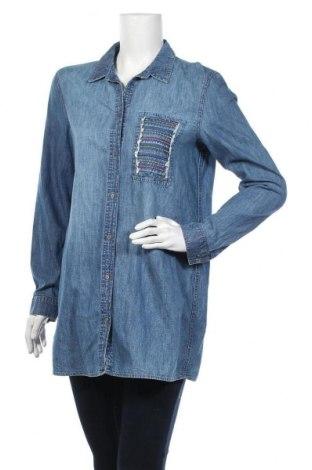 Дамска риза Edc By Esprit, Размер M, Цвят Син, Цена 12,13лв.