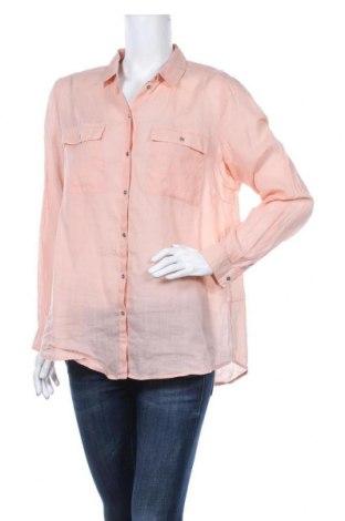 Дамска риза Esprit, Размер L, Цвят Розов, 56% рамия, 44% памук, Цена 6,14лв.