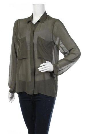Дамска риза Gina Tricot, Размер M, Цвят Зелен, Цена 5,53лв.
