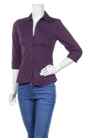 Дамска риза H&M, Размер M, Цвят Лилав, 66% памук, 25% полиамид, 5% полиестер, 4% еластан, Цена 11,34лв.
