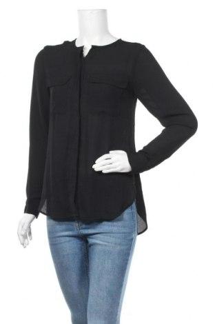 Дамска риза H&M, Размер S, Цвят Черен, Полиестер, Цена 8,19лв.