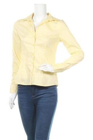 Cămașă de femei H&M, Mărime S, Culoare Galben, 73% bumbac, 23% poliester, 4% elastan, Preț 50,73 Lei