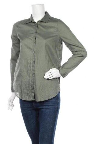 Дамска риза H&M Divided, Размер S, Цвят Зелен, Памук, Цена 6,83лв.