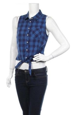 Дамска риза H&M Divided, Размер M, Цвят Син, Памук, Цена 11,03лв.
