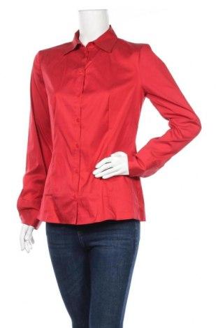 Дамска риза Hugo Boss, Размер M, Цвят Червен, 70% памук, 27% полиамид, 3% еластан, Цена 87,60лв.