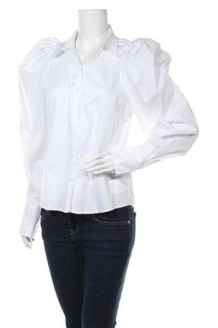 Дамска риза In Wear, Размер S, Цвят Бял, 65% памук, 32% полиамид, 3% еластан, Цена 66,75лв.