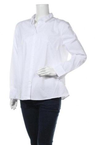 Дамска риза Jake*s, Размер XL, Цвят Бял, 73% памук, 23% полиестер, 4% еластан, Цена 44,25лв.