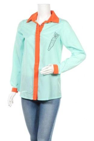Дамска риза Kling, Размер M, Цвят Зелен, Вискоза, Цена 29,50лв.
