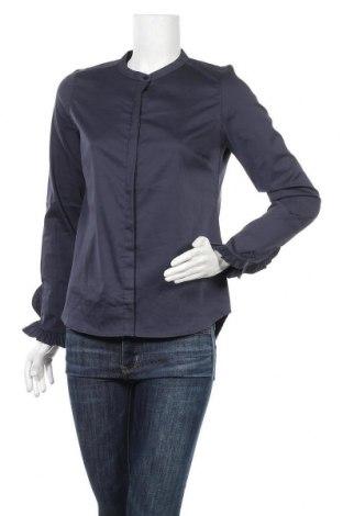Дамска риза MOS MOSH, Размер S, Цвят Син, 65% памук, 30% полиамид, 5% еластан, Цена 55,04лв.