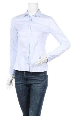 Дамска риза Massimo Dutti, Размер M, Цвят Син, 78% памук, 18% полиамид, 4% еластан, Цена 33,30лв.