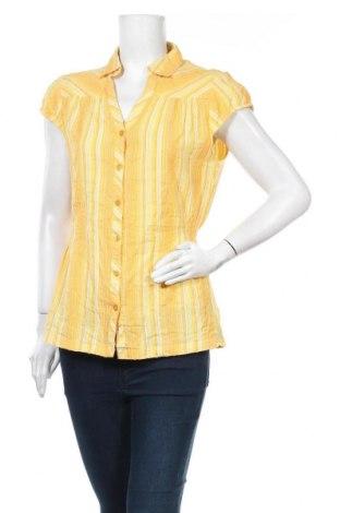 Дамска риза Mim, Размер L, Цвят Жълт, 99% памук, 1% метални нишки, Цена 14,96лв.