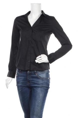 Дамска риза Montego, Размер XS, Цвят Черен, 73% памук, 23% полиестер, 4% еластан, Цена 19,80лв.