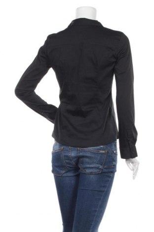 Дамска риза Montego, Размер XS, Цвят Черен, 73% памук, 23% полиестер, 4% еластан, Цена 11,00лв.