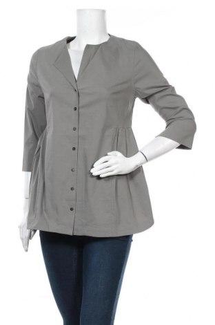 Дамска риза Myrine, Размер XS, Цвят Зелен, 73% памук, 23% полиамид, 4% еластан, Цена 14,75лв.