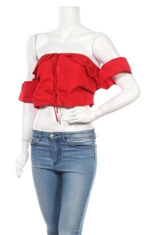 Дамска риза Na-Kd, Размер L, Цвят Червен, 100% памук, Цена 28,50лв.