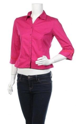 Дамска риза Naf Naf, Размер M, Цвят Розов, 96% памук, 4% еластан, Цена 9,45лв.