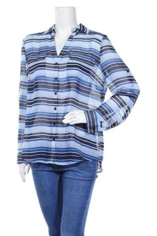 Дамска риза New York & Company, Размер L, Цвят Син, Полиестер, Цена 4,73лв.