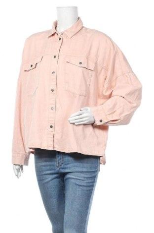 Дамска риза Noisy May, Размер XL, Цвят Розов, Памук, Цена 18,71лв.