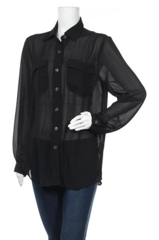 Дамска риза Object, Размер M, Цвят Черен, Полиестер, Цена 34,50лв.