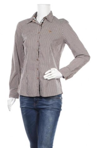 Дамска риза Olsen, Размер M, Цвят Кафяв, 60% памук, 37% полиамид, 3% еластан, Цена 4,46лв.