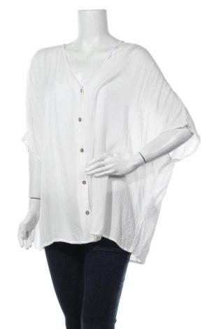 Дамска риза Only Carmakoma, Размер XL, Цвят Бял, Вискоза, Цена 36,40лв.
