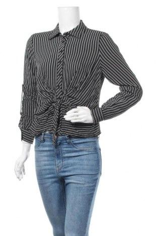 Дамска риза Paper Crane, Размер M, Цвят Черен, Вискоза, Цена 6,62лв.