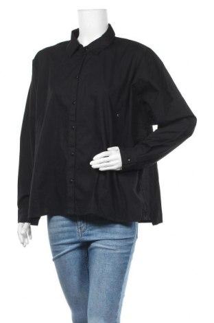 Γυναικείο πουκάμισο Pieces, Μέγεθος XXL, Χρώμα Μαύρο, Βαμβάκι, Τιμή 13,89€