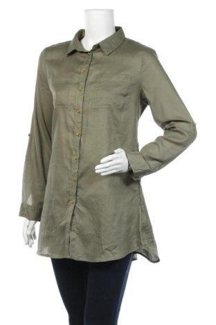 Дамска риза Primark, Размер M, Цвят Зелен, Памук, Цена 6,62лв.