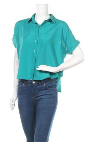 Γυναικείο πουκάμισο Qed London, Μέγεθος M, Χρώμα Πράσινο, Πολυεστέρας, Τιμή 4,32€