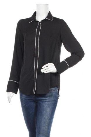 Дамска риза SHEIN, Размер S, Цвят Черен, Полиестер, Цена 7,56лв.