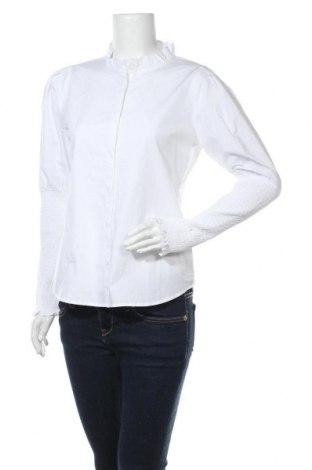 Дамска риза Soft Rebels, Размер S, Цвят Бял, Памук, Цена 31,60лв.