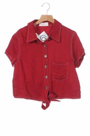 Дамска риза Twintip, Размер XS, Цвят Червен, Вискоза, Цена 29,25лв.