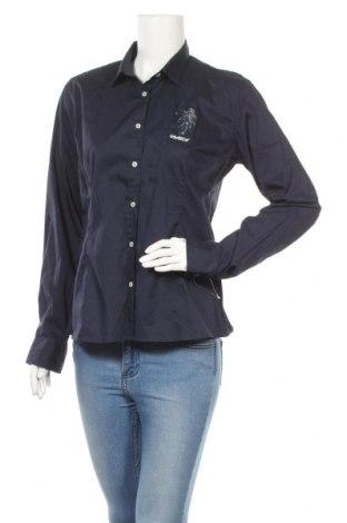Дамска риза U.S. Polo Assn., Размер XL, Цвят Син, 74% памук, 23% полиамид, 3% еластан, Цена 51,20лв.