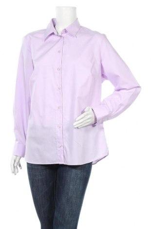 Дамска риза Walbusch, Размер XL, Цвят Лилав, Памук, Цена 18,95лв.