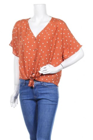 Дамска риза Warehouse, Размер XL, Цвят Оранжев, Вискоза, Цена 36,75лв.